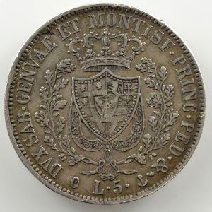 5 Lire   Charles-Félix (1821-1831)   1829 P  ancre  (Gênes/Genova)    TB+/TTB