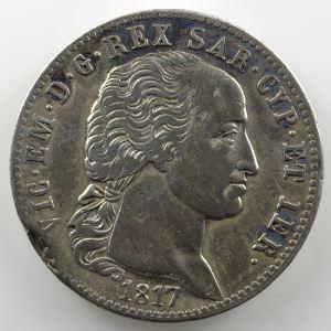5 Lire   Victor-Emmanuel I (1802-1821)   1817  (Turin/Torino)    TB+