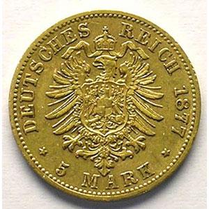 5 Mark   1877 B    TTB