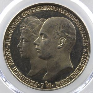 5 Mark   1904 A   PCGS-Genuine Cleaned-UNC Detail    SUP/FDC