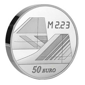 50 €   5 onces (155,5 g) argent fin   2009    BE