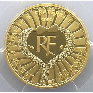 50 Francs   2000    PCGS-PR69DCAM    BE
