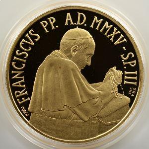 50 €   MMXV  (2015)   Sanctuaire Pontifical de la Bienheureuse Vierge Marie du Saint Rosaire de Pompéi    BE  Proof