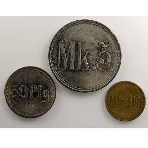 50 Pf, 5 Mk, 10 Mk    TTB