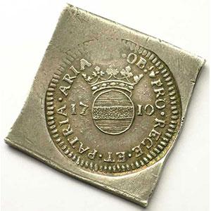 50 Sols   1710   flan carré en argent    TTB