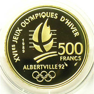 500 Francs   1989   Patinage artistique / Lac du Bourget    BE
