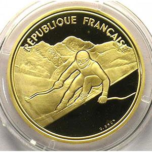 500 Francs   1989   Ski alpin, descente / Mont Blanc    BE
