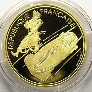 500 Francs   1990   Bobsleigh / Luge de la Belle Epoque    BE