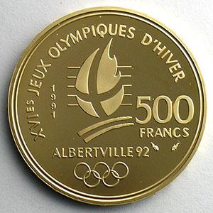 500 Francs   1990   Hockey sur glace / Bouquetin    BE