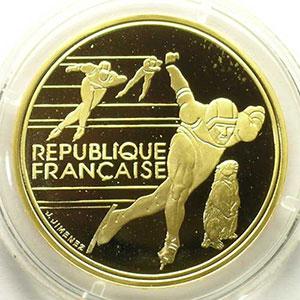 500 Francs   1990   Patinage de vitesse / Marmotte    BE
