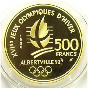 500 Francs   1990   Ski acrobatique / Chamois    BE