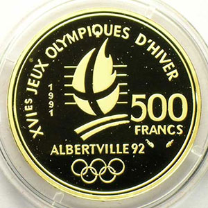 500 Francs   1991   Saut à ski / Belle époque    BE