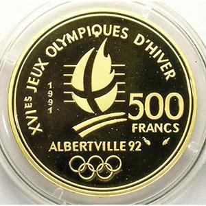 500 Francs   1991   Ski de fond / Château des Ducs de Savoie, Chambéry    BE