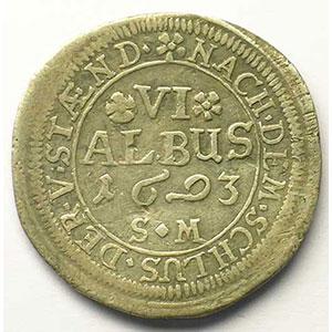 6 Albus   Philippe-Reinhardt (1685-1712)   1693 SM    TB+