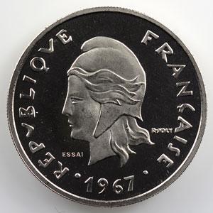 Lec.103   20 Francs  1967 Essai    FDC