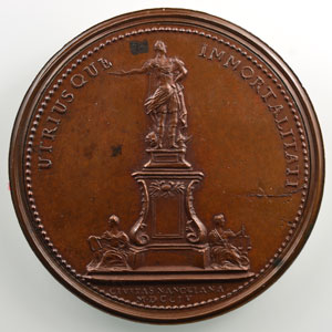 Anne-Marie de SAINT-URBAIN   Stanislas   Nancy 1755   bronze   50 mm    SUP