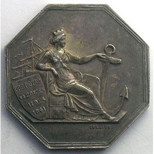 Abbeville   jeton octogonal en argent    SUP