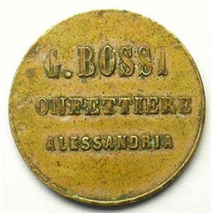 ALESSANDRIA   G.BOSSI   Confettiere   20 Paras   Lt, R  21mm    TTB