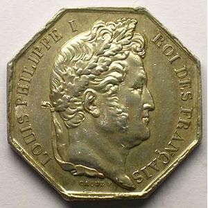 Amiens   jeton octogonal en argent   Louis-Philippe I    TTB/TTB+ eton octogonal en argent