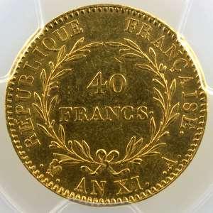 AN XI A  (Paris)   sans olive    PCGS-AU55    TTB+/SUP