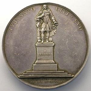 ANDRIEU/BARRE   Argent   50mm   25 août 1823    TTB+