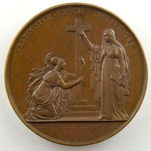 ANDRIEU/BRUN   Bronze   50mm   (1815)   La Religion catholique redevient Religion d'Etat    SUP