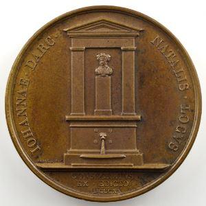 ANDRIEU/DEPAULIS   Bronze   50mm   1820   Monument de Jeanne d'Arc à Domrémy (Vosges, Lorraine)    SUP