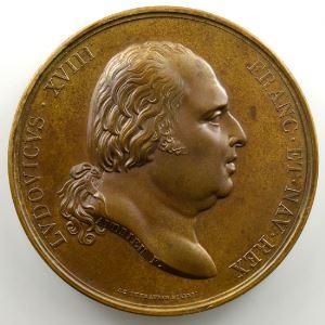 Andrieu/Desboeufs   Bronze   50,5mm   1814   Première entrée du Roi à Paris le 3 mai 1814    FDC