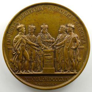 Andrieu/Gatteaux   Bronze   50mm   1814   Première Paix de Paris  12 mai 1814    SUP/FDC