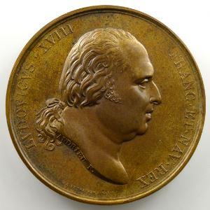 Andrieu/Gatteaux   Bronze   51mm   1823   Rentrée triomphale du duc d'Angoulême à la barrière de l'étoile  2 février 1823    SUP/FDC