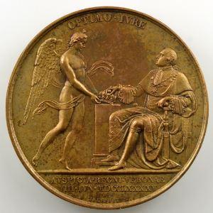 ANDRIEU/JEUFFROY   Bronze   50mm   1795   Avènement de Louis XVIII à la mort de Louis XVII en prison, à l'âge de 10 ans  8 juin 1795    SUP