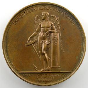 ANDRIEU/JEUFFROY   Bronze   50mm   1815   Constance du Roi pendant les cent-jours    SUP/FDC