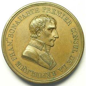 ANDRIEU   Paix de Lunéville   An IX (1801)   bronze   42 mm    SUP