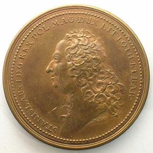 Anne-Marie de SAINT-URBAIN   Stanislas   Nancy 1755   bronze   50 mm    TTB+/SUP