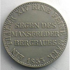 Ausbeutetaler   1853 A    TB+/TTB