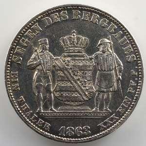 Ausbeutetaler   1863 B    TTB