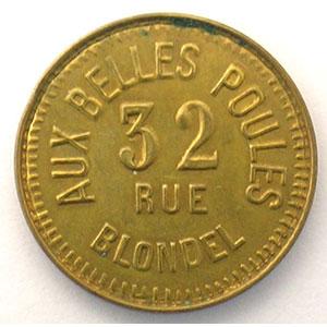 Aux Belles Poules   Lt fourré, R 22 mm    SUP