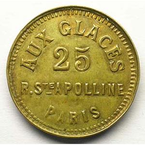 Aux Glaces   Lt fourré, R 22 mm    TTB
