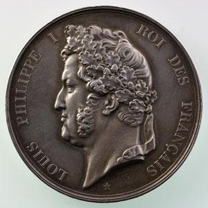 Barre   Médaille en argent  52mm   courage et dévouement   1839    TTB+/SUP