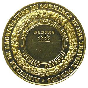 BARRE   Nantes 1866 - 34mm    FDC