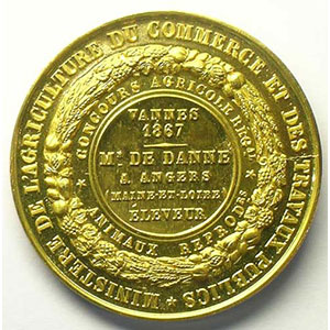 BARRE   Vannes 1867 - 34mm    FDC