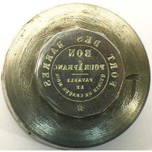 Belfort, Fort des Barres - entreprise MOREL   Paire de coins monétaires ayant servi à la frappe du jeton de 1 Franc    SUP