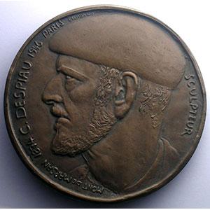 Belmondo   C. Despiau, sculpteur   bronze   77mm    SUP/FDC