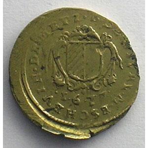 Bernard de Pellart, seigneur de Givry   (1667-1678)   1677   cuivre jaune   14mm    TTB