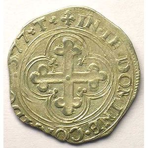 Blanc de 4 Soldi   Emmanuel Philibert  (1553-1580)   1577 T  (Turin)    TTB