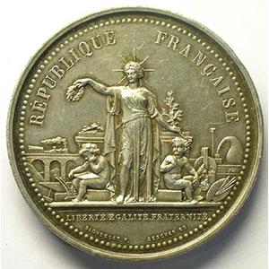 BLONDELET/BESCHER   Union des Sociétés Nautiques du Sud-Ouest   argent   poinçon corne   46mm    SUP