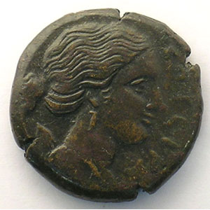 Bronze  22mm   (Agathocles  317-289 av. JC)    TTB+