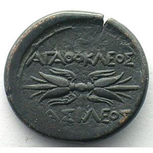 Bronze  23mm   (Agathocles  317-289 av. JC)    TTB+
