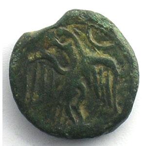 Bronze à la tête de Roma et à l'aigle    TB/TB+