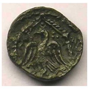 Bronze PIXTILOS à l'oiseau dans le temple    TB+/TTB